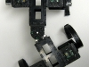 Ckbot quadruped concept with spine articulation -- top view