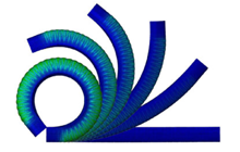 Modeling of Soft Fiber-Reinforced Bending Actuators